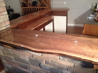 Mark Riley Walnut Live Edge Bar Bagdad Lumber Llc