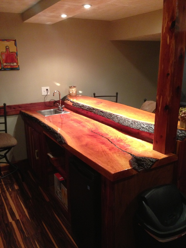Jimmy Risinger Shows What Being Creative And Craftsmanship Can Do With Two  Live Edge Cherry Slabs!!!