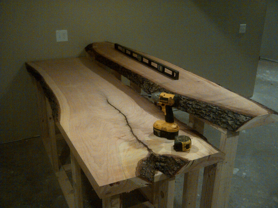 James Risinger Live Edge Cherry Bar Top Bagdad Lumber